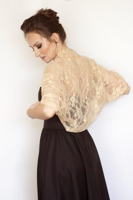 Gold lace shawl