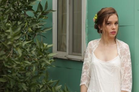 White wedding shawl