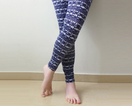 Blue tribal Leggings