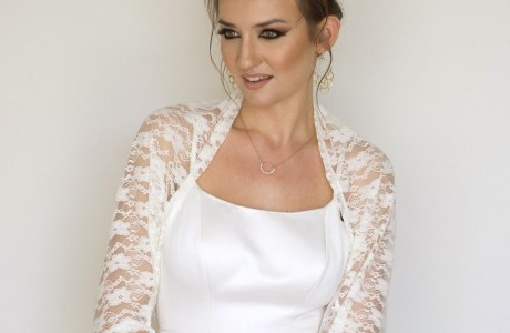 White bridal lace shawl