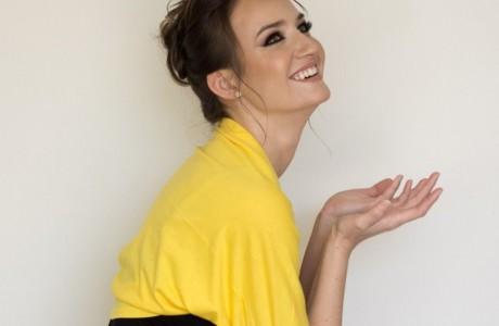 Yellow bolero jacket