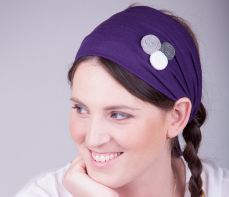 Wide purple headband