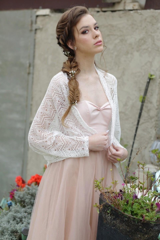 White crochet cardigan
