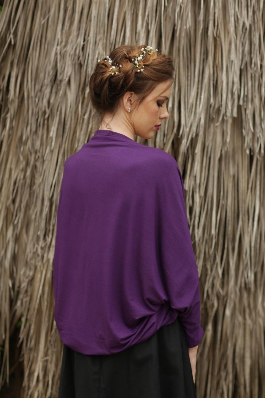 Purple Cardigan kimono
