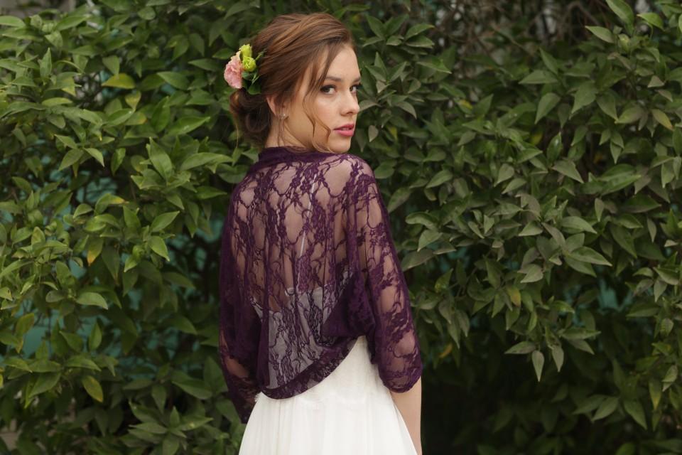 Purple lace shawl