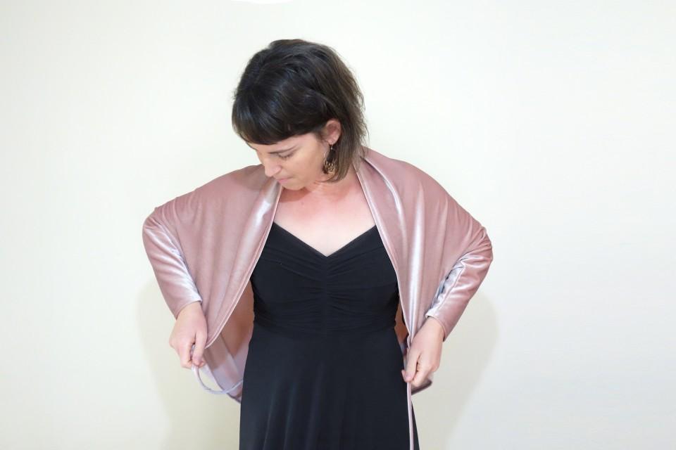 Blush velvet jacket