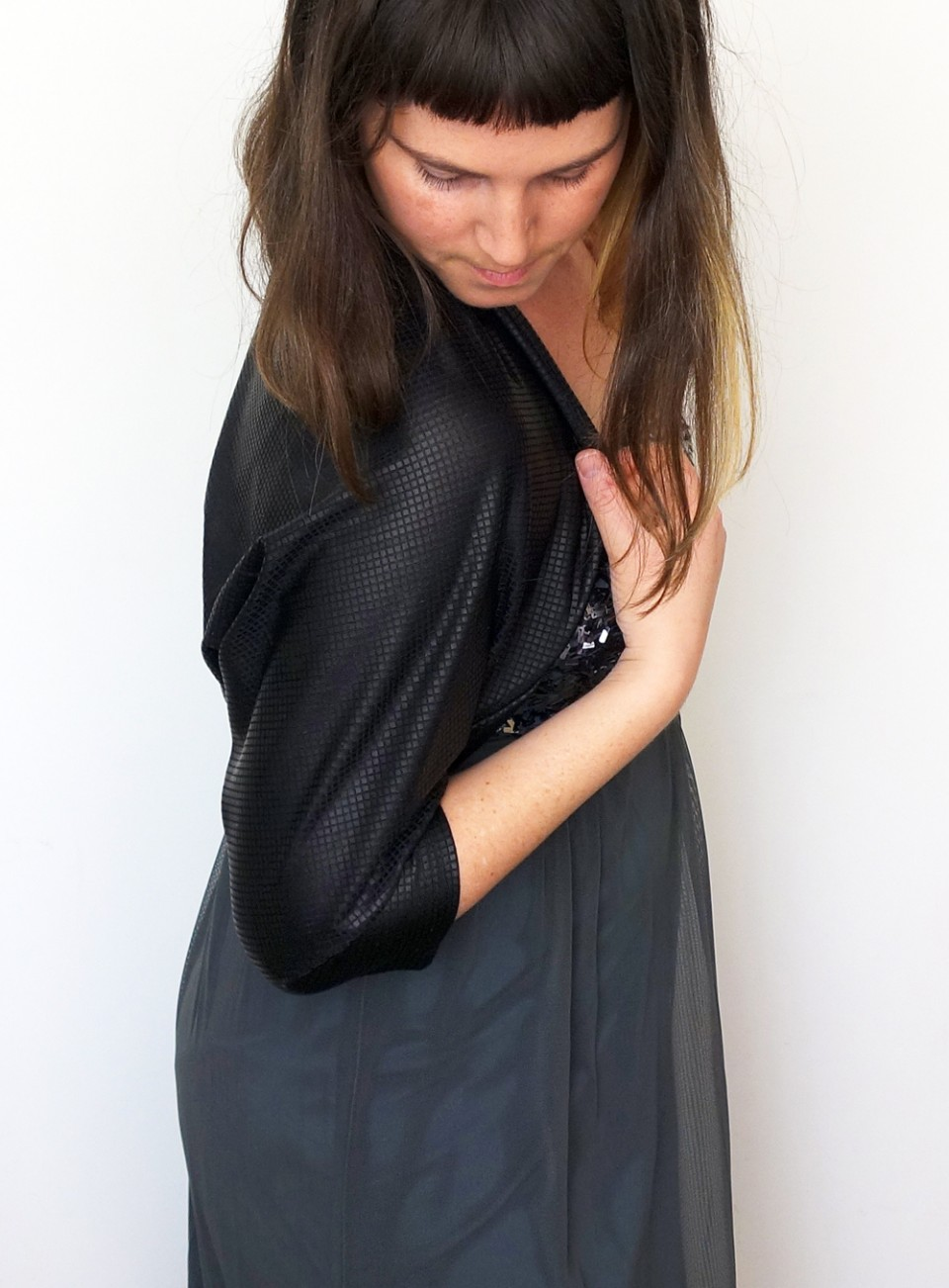 black evening shawl