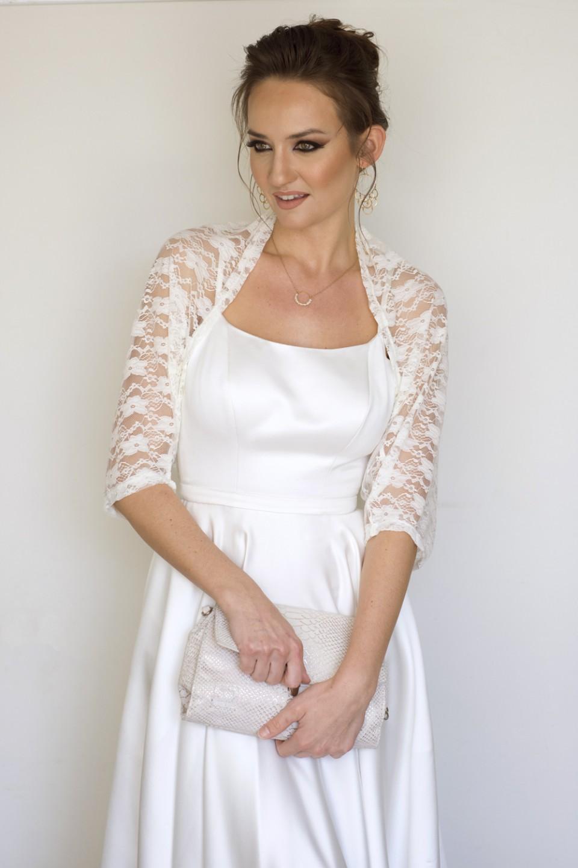 Ivory bridal lace shawl