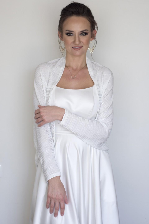 White wedding kimono cardigan