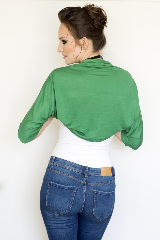 Green bolero jacket
