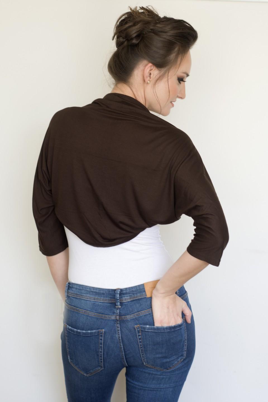 Brown bolero jacket